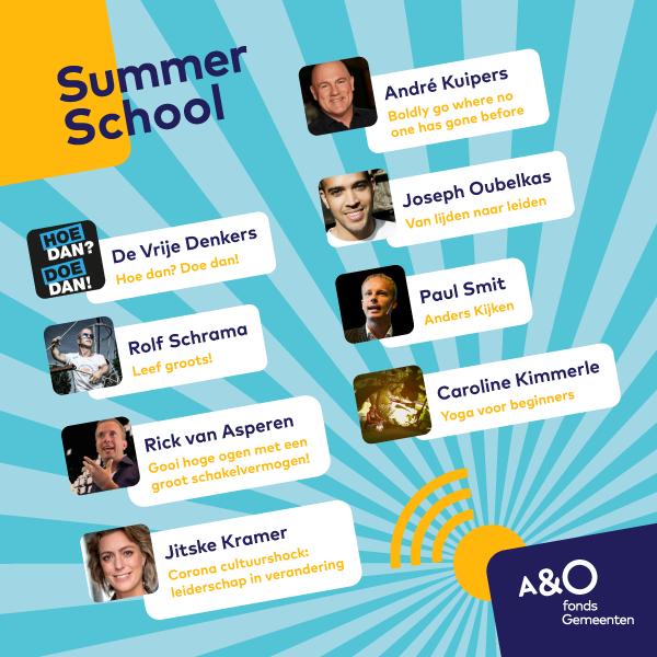 AO Summer School 2020 Programma 600x600 met logo