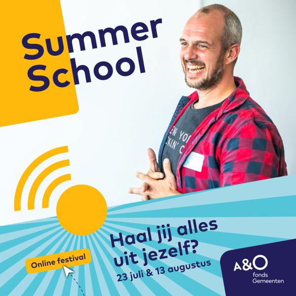 AO Summer School 2020 campagnebeeld Jeroen 600 x 600