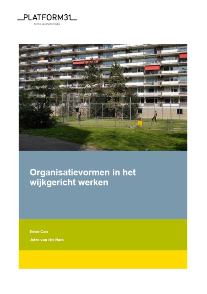 Organisatievormen in het wijkgericht werken publicatie 600
