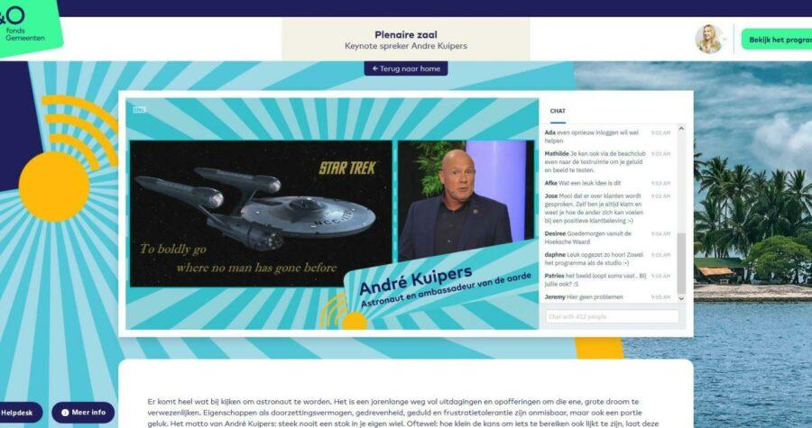 Summerschool 2020 platform Andre Kuipers