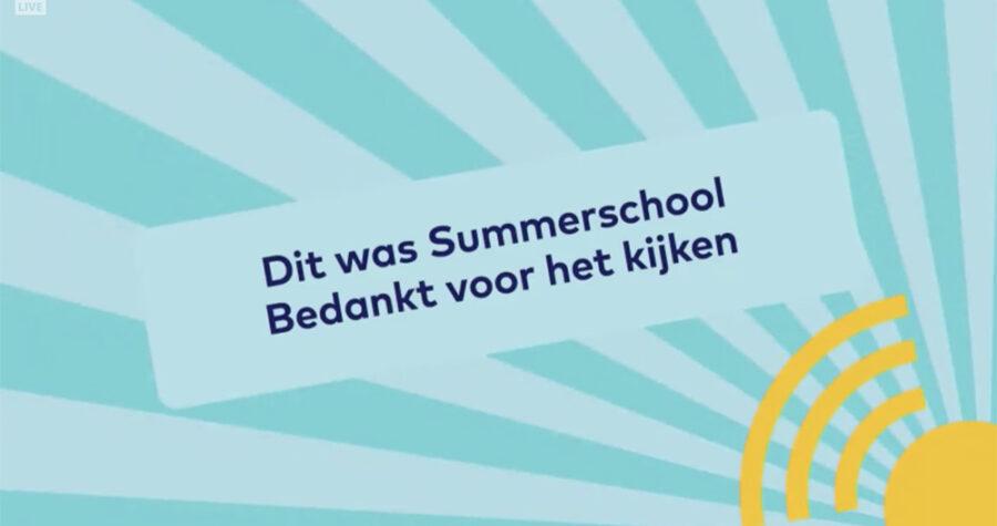 Summerschool 2020 platform einde